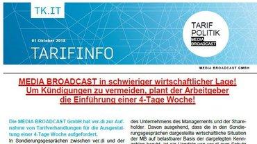 Tarifinfo 1 MEDIA BROADCAST - Teaserformat