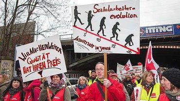 Streiks im Sozial- und Erziehungsdienst in Köln