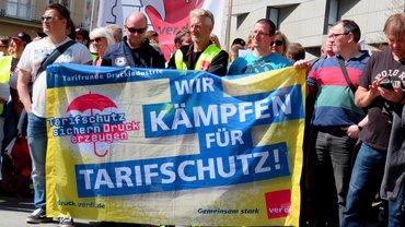 Streik Druckindustrie