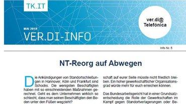 Flyer Reorganisation Telefónica NT auf Abwegen - Teaser