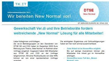 Flyer 3 zu Ergebnissen Befragung New Normal BetrGr Zentrale Betriebe Telekom Köln - Teaser