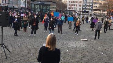 Demonstration von Kölner Frauenverbänden am 24. März 2021 zum Austritt der Türkei aus der Istanbul-Konvention