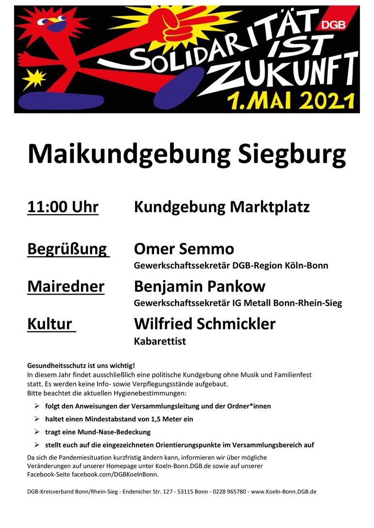 Tag der Arbeit 2021 in Siegburg