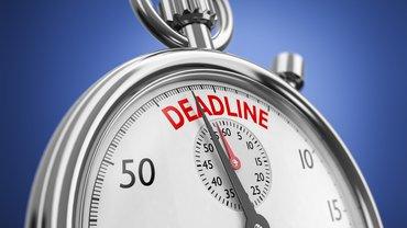 Countdown Stoppuhr Start Dead Line